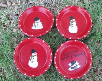 Snowman coasters...Four coasters for ten dollars