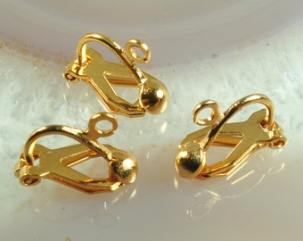 Clip on earrings, brass clip ons, clip ons