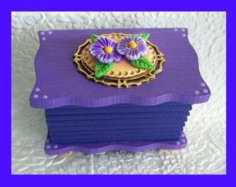 Trinket Box Grape and Lavender