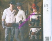 Steam Punk Sewing Pattern McCalls 6975 One Size Gothic Spats Belts Fingerless Gloves Hats and Mini Hats