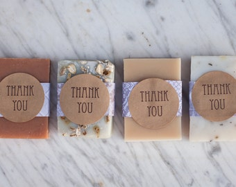 25 Thank You Favors//Natural Soap// Baby Shower Favors// Wedding