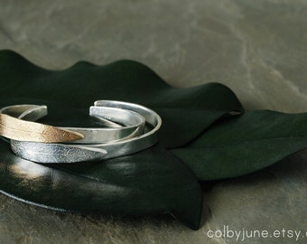 Silver Leaf Cuff | Silver Bracelet | Nature Inspired
