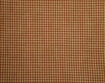 Cotton Homespun Fabric Khaki And Tan Fine Check 31 x 44