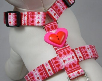 Dog Harness - Heart Stripes