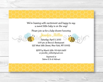 Bumble Bee Baby Shower Invitation PRINTABLE