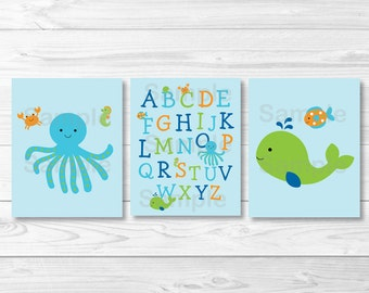 Under the Sea Nursery Wall Art PRINTABLE Instant Download
