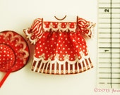 Dollhouse Miniature, Baby or Toddler  Precious Christmas Baby outfit clothing kit by Jean Day