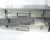 Vintage Film Strip Movies - Box of 32 - Steel Brumberger Case - Plastic and Tin Cases - Church, Family and Childrens Movies