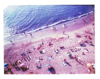 Above Beach Portugal Art Print Surf Vintage Art 8x10 inch in 11x14 inch mat