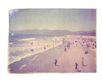 Santa Monica California Beach Art 8x10 Polaroid Print
