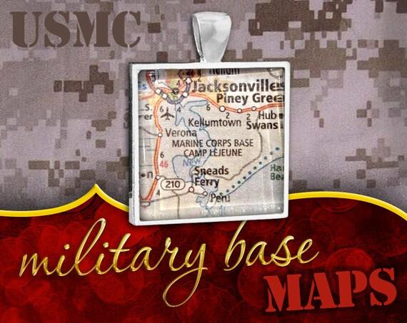 U.S. Marine Corps Pendant: Camp Lejeune, NC