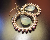 T h e . H o l i d a y  - 14k gold filled - pyrite - hoop - dangle earrings