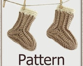 Sew Simple Baby Socks - Crochet Pattern (PDF) - INSTANT DOWNLOAD