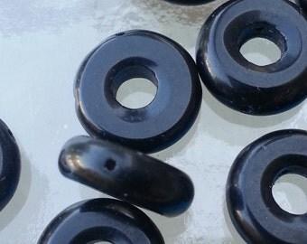 Black circle beads