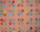 PEACH PINWHEELS Vintage Quilt from Quilts by Elena 1930s Reproduction Fabrics