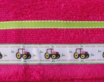 Pink Girly John Deehr Hooded Towel