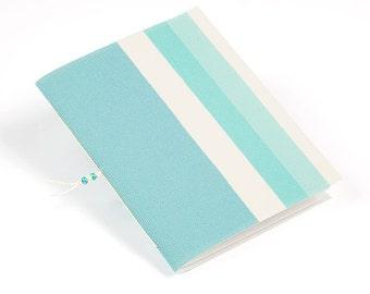 Mint blue jotter notebook, eco friendly journal, recycled wallpaper journal