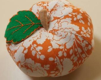 Small Orange Floral Pumpkin