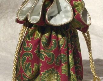 The Gilded Flourish Jewelry Pouch, Travel Organizer