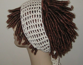 Cotton Off White Dread Headband