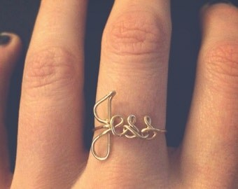 Personalized Custom Name Ring