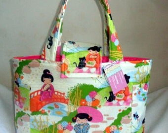 Large Aoi Has 2 Sisters Asian Diaper Bag Tote