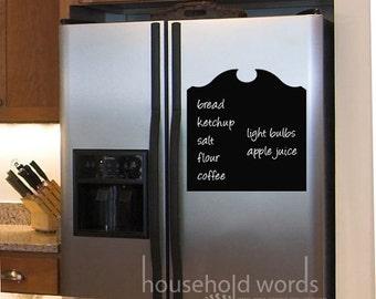 Fridge Chalkboard, Decorative Chalkboard Decals for the kitchen fridge door, pantry cabinet,  Chalk Board Vinyl