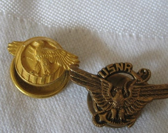 2 Vintage Metal Eagle Costume Jewelry Tack Pins
