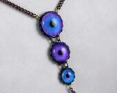 Azure -- Handmade Brass Necklace