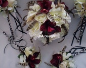 TRUE ROMANCE  Wedding Bouquet With Chinchilla Feathers