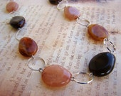 READY TO SHIP - Beautiful Shades of Brown Stone Necklace - Bella Mia Beads