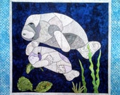 Manny and Momma Manatee Fusible Applique Pattern
