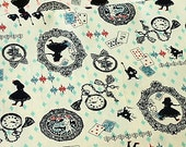 Japanese Cotton Fabric (Kokka) - Alice in Wonderland - Half Yard