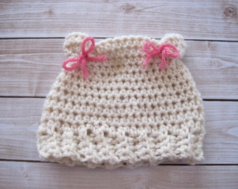 Crochet Baby Hat, Baby Cat Hat, Crochet Cat Hat, Baby Girl Hat, Newborn Girl Hat, Infant, Baby Photo Prop, Baby Crochet Hat, Baby Animal Hat