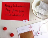 Valentine's Day Postcard Tea Gram