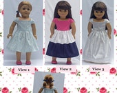 18 inch doll Clothes Sewing Pattern NEW Ella Dress AG doll clothing Sewing Pattern PDF Pattern instant download