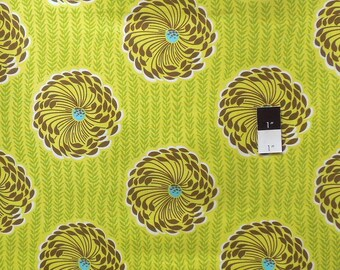 Amy Butler AB63 Soul Blossoms Delhi Blooms Lime Cotton Fabric 1 Yard