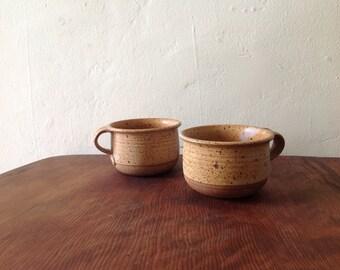 1970s Studio Pottery Lug Bowls.