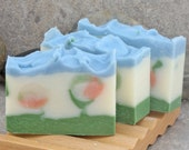 Sale - Summer Garden Floral Scented Cold Process Decorative Soap with Coconut Milk