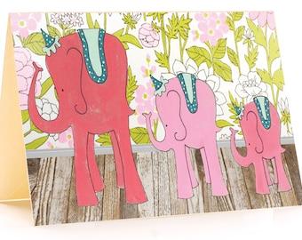 Pink Elephants-Card