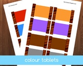 Montessori Graded Colour Tablets
