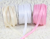 CLEARANCE - Satin Ribbon with Knotted Edges -  2 Yard Bundle