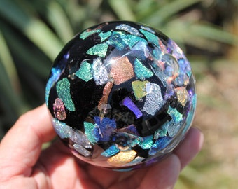 Dichroic Glass Paperweight - Free Shipping