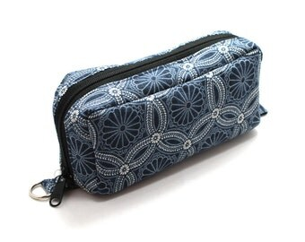 Essential Oil Case Holds 10 Bottles Essential Oil Bag Denim Blue Kasuri