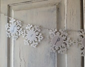 SNOWFLAKE GARLAND0- custom garland with choice of text - priced per letter
