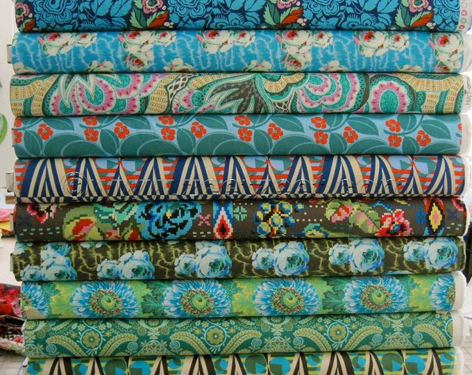 "12 YARD Bundle - 36"" x 44"" - ""Night Music"" Colors - Amy Butler HAPI Fabric - Brand New Collection 12 Yards"