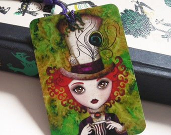 Alice in Wonderland - Lady Hatter Bookmark with Tassel