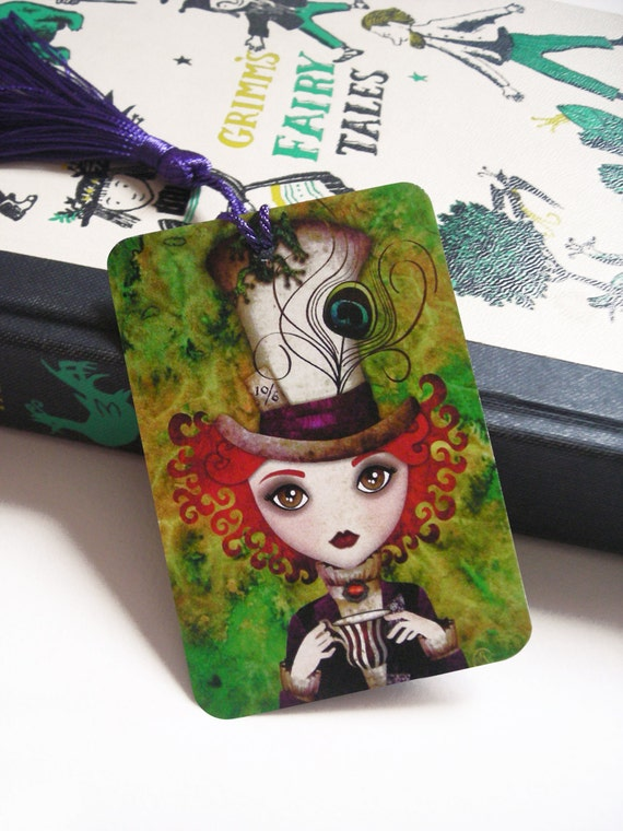 Alice in Wonderland - Lady Hatter Bookmark with Tassel
