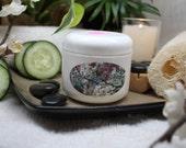 4 oz jar Rose Scented Organic/Vegan Moisturizing Lotion w/Unrefined African Shea Butter - Smells like Fresh Cut Roses