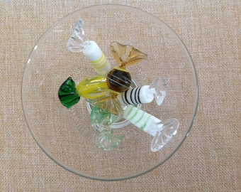 Vintage Glass Candies - set of six